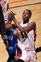 SAN ANTONIO , TX - FEBRUARY 17, 2010: The Texas A&M University Corpus Christi Islanders vs. The University of Texas At San Antonio Roadrunners Women's Basketball at the UTSA Convocation Center. (Photo by Jeff Huehn)