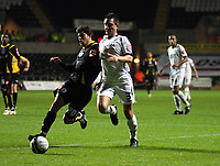 Pictured: Marcos Painter of Swansea City in action<br /> Re: Coca Cola Championship, Swansea City Football Club v Queens Park Rangers at the Liberty Stadium, Swansea, south Wales 21st October 2008.