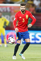 Spain's Gerard Pique during FIFA World Cup 2018 Qualifying Round match. September 5,2016.(ALTERPHOTOS/Acero) /NORTEPHOTO