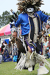 Charles Hankinson (Eagle Tail), from the MicMac Tribe of Canada, dances at the 8th Annual Red Wing Native American PowWow in Virginia Beach, Virginia.