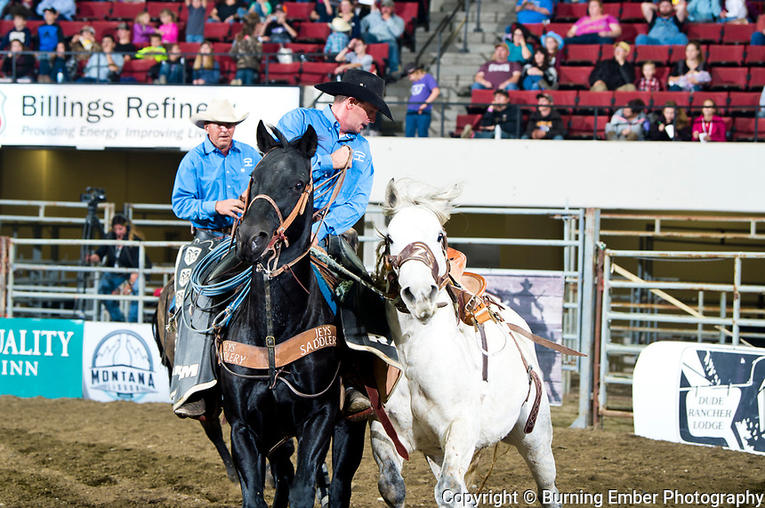 Powder River Rodeo;s Testify in the Saddle Bronc event at the NILE PRCA 1st perf Event. October 18th, 2018.  Photo by Josh Homer/Burning Ember Photography.  Photo credit must be given on all uses.