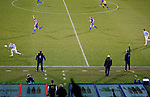 Crystal Palace 1 Huddersfield Town 1, 22/12/2012. Selhurst Park, Championship. Promotion chasing Crystal Palace aim to halt a poor run of form against lowly Huddersfield. The Home and away bench watch the action unfold. Photo by Simon Gill.