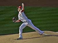 11 October 2012: Washington Nationals pitcher Ross Detwiler on the mound to start Postseason Playoff Game 4 of the National League Divisional Series against the St. Louis Cardinals at Nationals Park in Washington, DC. The Nationals defeated the Cardinals 2-1 on a 9th inning, walk-off solo home run by Jayson Werth, tying the Series at 2 games apiece. Mandatory Credit: Ed Wolfstein Photo