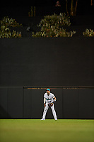 Salt River Rafters center fielder Royce Lewis (9), of the Minnesota Twins organization, during an Arizona Fall League game against the Mesa Solar Sox on September 19, 2019 at Salt River Fields at Talking Stick in Scottsdale, Arizona. Salt River defeated Mesa 4-1. (Zachary Lucy/Four Seam Images)