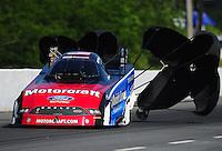 May 5, 2012; Commerce, GA, USA: NHRA funny car driver Bob Tasca III during qualifying for the Southern Nationals at Atlanta Dragway. Mandatory Credit: Mark J. Rebilas-