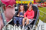 Mia and Eva Moloney from Newcastlewest enjoying Birds Amusements on Saturday.