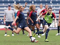 Kansas City, KS - July 25, 2018: The USWNT trains for the Tournament of Nations at Children's Mercy Park.