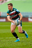 28th March 2021; Mattoli Woods Welford Road Stadium, Leicester, Midlands, England; Premiership Rugby, Leicester Tigers versus Newcastle Falcons; George Ford of Leicester Tigers looks to pass off the ball