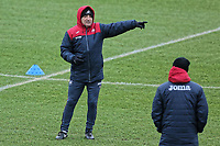 Manager Carlos Carvalhal speaks to his colleagues during the Swansea City Training at The Fairwood Training Ground, Swansea, Wales, UK. Thursday 04 January 2018