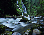 Boulder Creek Falls Snohomish County west of Darrington Washington state USA