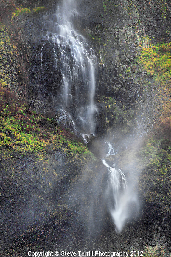Mist Falls in Columbia River Gorge National Scenic Area, Oregon