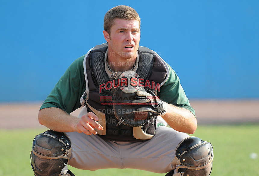 July 16, 2009: Catcher Joel Collins (31) of the Lynchburg Hillcats, Carolina League affiliate of the Pittsburgh Pirates, before a game at G. Richard Pfitzner Stadium in Woodbridge, Va. Photo by: Tom Priddy/Four Seam Images