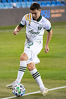 SAN JOSE, CA - SEPTEMBER 19: Tomas Conechny #19 of the Portland Timbers during a game between Portland Timbers and San Jose Earthquakes at Earthquakes Stadium on September 19, 2020 in San Jose, California.