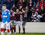 26.01.2020 Hearts v Rangers: Steven Naismith celebrates Hearts equaliser