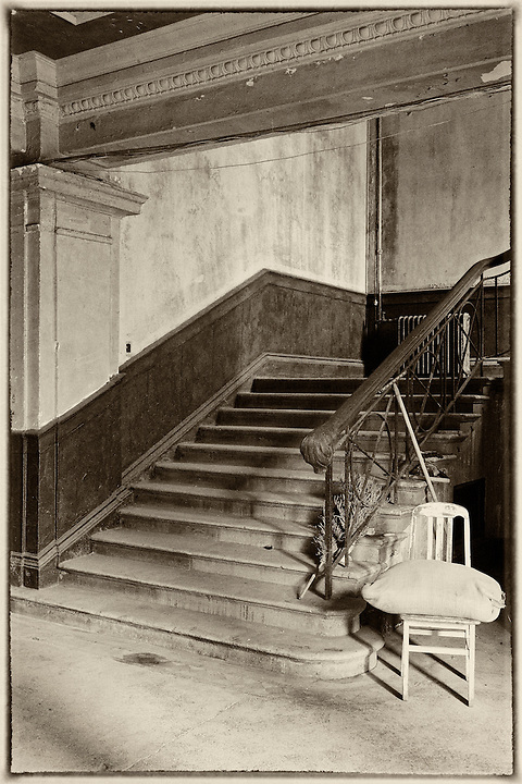 One Of Two Main Staircases Inside The Tsingtao Exchange Building, Qingdao.  Butterfield & Swire (Amongst Several Others) Leased Offices Here From 1926 Until Their Own Building Was Completed In December 1936.