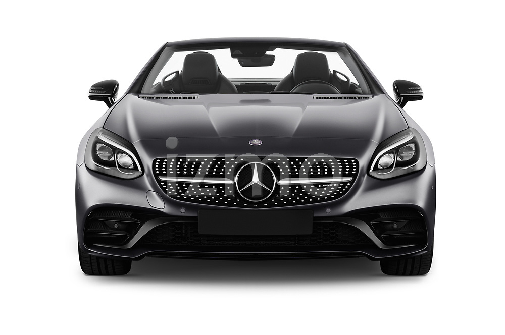 Car photography straight front view of a 2017 Mercedes Benz SLC AMG 2 Door Convertible Front View