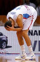 Serbian national basketball team player Marko Keselj reacts during round 1, Group B, basketball game between Serbia and France in Lithuania, Siauliai, Siauliu arena, Eurobasket 2011, Monday, September 5, 2011. (photo: Pedja Milosavljevic/SIPA PRESS)