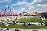 The TCU Horned Frogs stadium gets ready for action during the game between the Samford Bulldogs and the TCU Horned Frogs at the Amon G. Carter Stadium in Fort Worth, Texas. TCU defeats Samford 48 to 14.