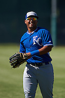 Kansas City Royals Samir Duenez (11) warms up before an instructional league game against the San Francisco Giants on October 22, 2015 at the Giants Baseball Complex in Scottsdale, Arizona.  (Mike Janes/Four Seam Images)