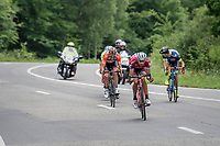 eventual stage winner José Gonçalves (POR/Katusha-Alpecin) is part of a thinned out breakaway group<br /> <br /> Ster ZLM Tour (2.1)<br /> Stage 4: Hotel Verviers > La Gileppe (Jalhay)(190km)