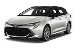 2019 Toyota Corolla-Touring-Sports Hybrid-Style 5 Door Wagon Angular Front automotive stock photos of front three quarter view