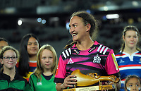 Chiefs captain Stacey Elder celebrates winning the Super Rugby Women match between the Blues and Chiefs at Eden Park in Auckland, New Zealand on Saturday, 1 May 2021. Photo: Dave Lintott / lintottphoto.co.nz