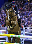 OMAHA, NEBRASKA - APR 2: Kevin Staut rides Reveur de Hurtebise during the Longines FEI World Cup Jumping Final at the CenturyLink Center on April 2, 2017 in Omaha, Nebraska. (Photo by Taylor Pence/Eclipse Sportswire/Getty Images)