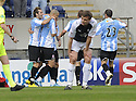 24/04/2010   Copyright  Pic : James Stewart.sct_jsp004_falkirk_v_hamilton  .::  MARCO PAIXAO IS CONGRATULATED AFTER HE SCORES HAMILTON'S FIRST ::  .James Stewart Photography 19 Carronlea Drive, Falkirk. FK2 8DN      Vat Reg No. 607 6932 25.Telephone      : +44 (0)1324 570291 .Mobile              : +44 (0)7721 416997.E-mail  :  jim@jspa.co.uk.If you require further information then contact Jim Stewart on any of the numbers above.........