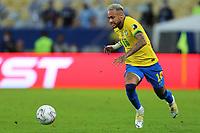 10th July 2021, Estádio do Maracanã, Rio de Janeiro, Brazil. Copa America tournament final, Argentina versus Brazil;  Neymar of Brazil