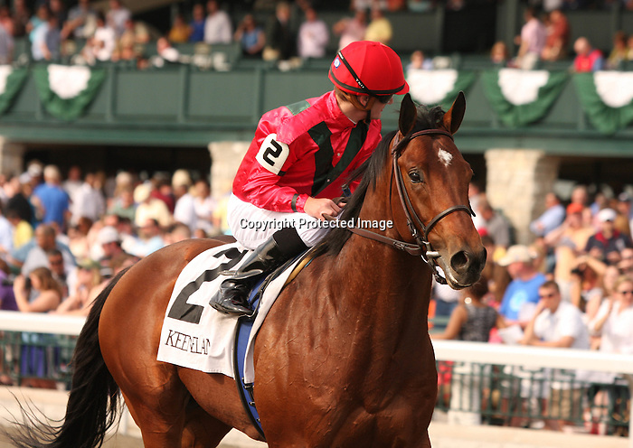 02 April 2010. Nordic Truce and Julien Leparoux after winning the 22nd running of the Transylvania (GRIII), at Keeneland racecourse.