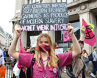 Protesters at Oxford Circus<br /> Extinction Rebellion demonstrators hold a Redress the Injustice day of protest around Central London, opposing the fashion industry's many human, animal and environmental injustices. September 9th 2020<br /> CAP/ROS<br /> ©ROS/Capital Pictures