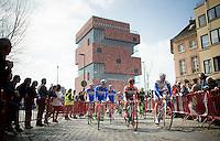 race departure from the MAS museum in Antwerpen<br /> <br /> 103rd Scheldeprijs 2015