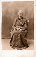 Historic photo of pioneer woman from small Texas town, at age 83. (Photographer's great-great-grandmother). Grandmother Kinzer. Marble Falls, Texas.