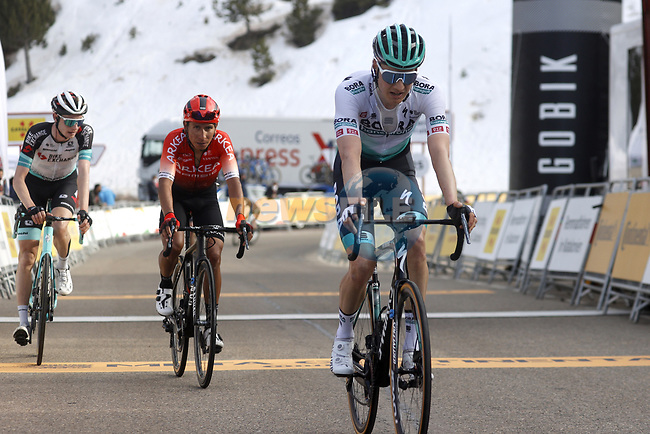 Wilco Kelderman (NED) Bora-Hansgrohe and Nairo Quintana (COL) Team Arkea-Samsic cross the finish line of Stage 4 of the 100th edition of the Volta Ciclista a Catalunya 2021, running 166.5km from Ripoll to Port Aine, Spain. 25th March 2021.   <br /> Picture: Bora-Hansgrohe/Luis Angel Gomez/BettiniPhoto | Cyclefile<br /> <br /> All photos usage must carry mandatory copyright credit (© Cyclefile | Bora-Hansgrohe/Luis Angel Gomez/BettiniPhoto)