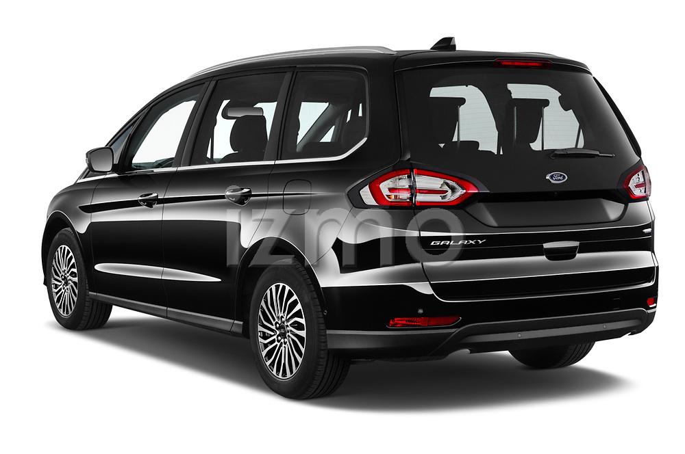 Car pictures of rear three quarter view of 2021 Ford Galaxy Titanium 5 Door Minivan Angular Rear