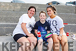 Donna Healy, Louis and Lainey O'Sullivan enjoying the beach in Ballyheigue on Monday