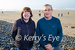 Imelda Cooke Daly and Batt Daly enjoying a stroll in Banna on Sunday morning.