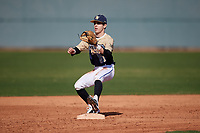 Maxwell Fisher during the Under Armour All-America Pre-Season Tournament, powered by Baseball Factory, on January 19, 2019 at Sloan Park in Mesa, Arizona.  Maxwell Fisher is a shortstop from Poolesville, Maryland who attends Poolesville High School.  (Mike Janes/Four Seam Images)