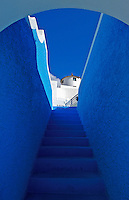 Image from the Book Journey Through Colour and Time, The blue stairway