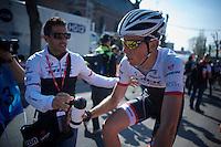 Laurent Didier (LUX/Trek Factory Racing) post-race<br /> <br /> 79th Flèche Wallonne 2015