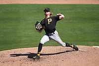 Pittsburgh Pirates pitcher Sam Howard (54) during a Major League Spring Training game against the Baltimore Orioles on February 28, 2021 at Ed Smith Stadium in Sarasota, Florida.  (Mike Janes/Four Seam Images)