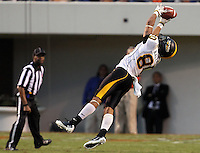 Southern Miss Golden Eagles wide receiver Ryan Balentine (80) makes a diving catch during the game at Scott Stadium. Virginia was defeated 30-24. (Photo/Andrew Shurtleff)