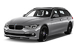 2018 Alpina BS 3 Touring Base 5 Door Wagon angular front stock photos of front three quarter view