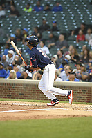 TEMPORARY UNEDITED FILE:  Image may appear lighter/darker than final edit - all images cropped to best fit print size.  <br /> <br /> Under Armour All-American Game presented by Baseball Factory on July 20, 2018 at Wrigley Field in Chicago, Illinois.  (Mike Janes/Four Seam Images) Riley Greene is an outfielder from Hagerty High School in Oviedo, Florida committed to Florida.