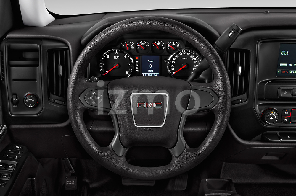 Car pictures of steering wheel view of a 2019 GMC Sierra 1500 Limited Base 4 Door Pick Up