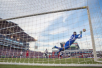 Commerce City, CO - Thursday June 08, 2017: Jan-Michael Williams, goal cam during a 2018 FIFA World Cup Qualifying Final Round match between the men's national teams of the United States (USA) and Trinidad and Tobago (TRI) at Dick's Sporting Goods Park.