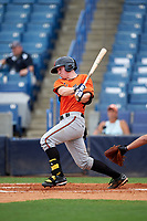 Luke Berryhill (13) of River Ridge High School in Canton, Georgia playing for the Baltimore Orioles scout team during the East Coast Pro Showcase on July 28, 2015 at George M. Steinbrenner Field in Tampa, Florida.  (Mike Janes/Four Seam Images)