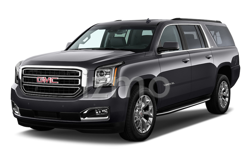 2015 GMC Yukon Xl Sle 5 Door Suv 2WD Angular Front stock photos of front three quarter view