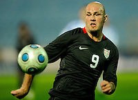 Conor Casey chases down the ball. Slovakia defeated the US Men's National Team 1-0 at the Tehelne Pole in Bratislava, Slovakia on November 14th, 2009.