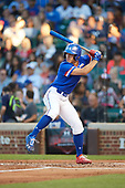 Mike Siani (6) of William Penn High School in Glenside, Pennsylvania at bat during the Under Armour All-American Game presented by Baseball Factory on July 29, 2017 at Wrigley Field in Chicago, Illinois.  (Mike Janes/Four Seam Images)